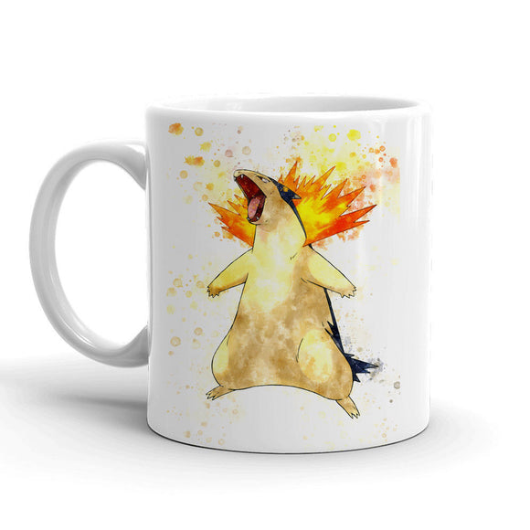 Typhlosion Pokemon Mug 11oz Ceramic Tea Cup Color Changing Anime Coffee Mug Q157 - Eureka Mugs