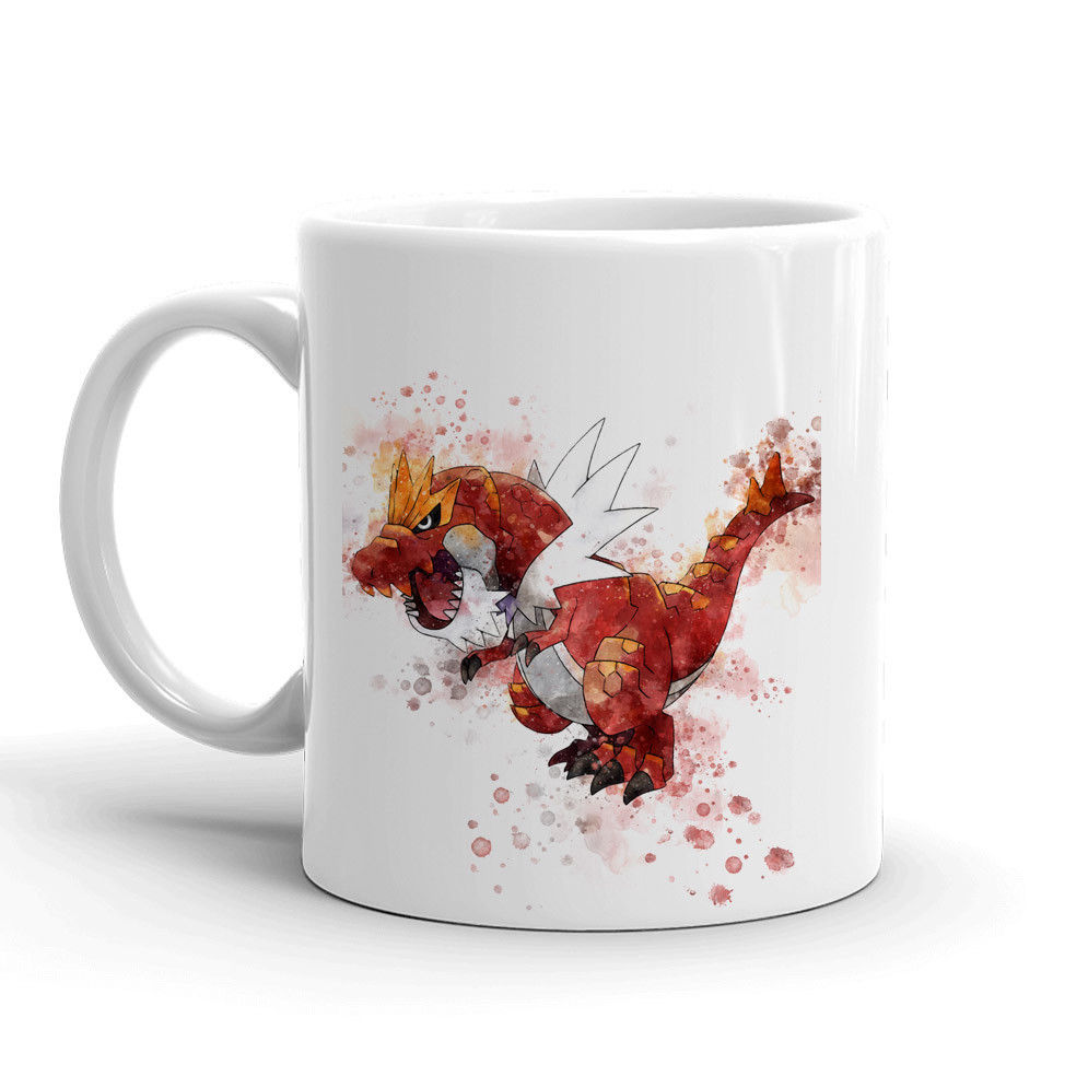 Tyrantrum Pokemon Mug 11oz. Ceramic Tea Cup Color Changing Anime Coffee Mug Q697 - Eureka Mugs
