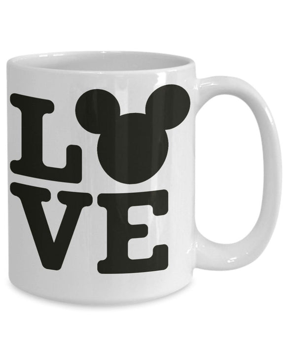 Valentines mickey and minnie custom coffee mug, gift for wife, gift for husband, boyfriend, girlfriend, for her, for him same sex coffee mug