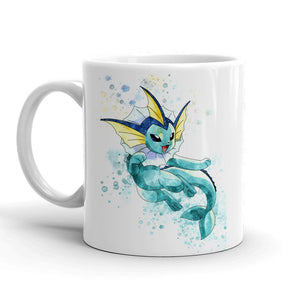 Vaporeon Pokemon Mug 11oz. Ceramic Tea Cup Color Changing Anime Coffee Mug Q134 - Eureka Mugs