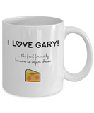 Vegan Coffee Mug I Love Gary Food Formerly Known As Vegan Cheese Funny Tea Cup - Eureka Mugs