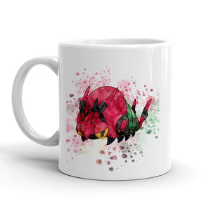 Venipede Pokemon Mug 11oz. Ceramic Tea Cup Color Changing Anime Coffee Mug Q543 - Eureka Mugs