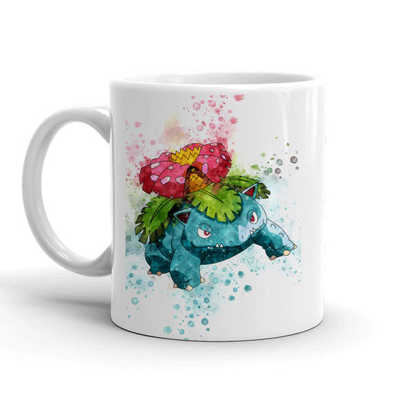 Venusaur Pokemon Mug 11oz. Ceramic Tea Cup Color Changing Anime Coffee Mug Q3 - Eureka Mugs