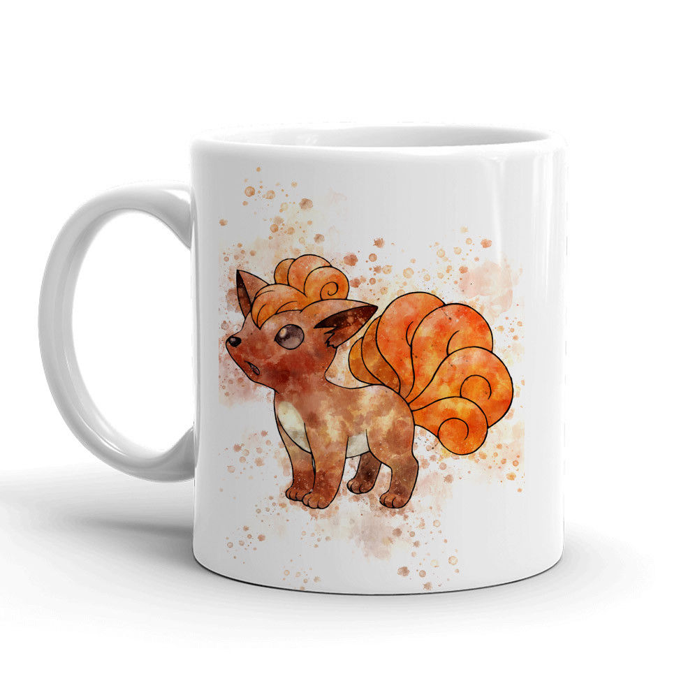 Vulpix Pokemon Mug 11oz. Ceramic Tea Cup Color Changing Anime Coffee Mug Q37 - Eureka Mugs