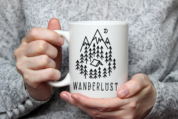 Wanderlust Mug, Travel Mug, Adventure Coffee Mug