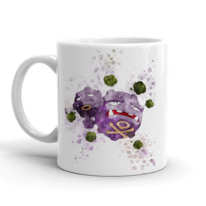 Weezing Pokemon Mug 11oz. Ceramic Tea Cup Color Changing Anime Coffee Mug Q110 - Eureka Mugs