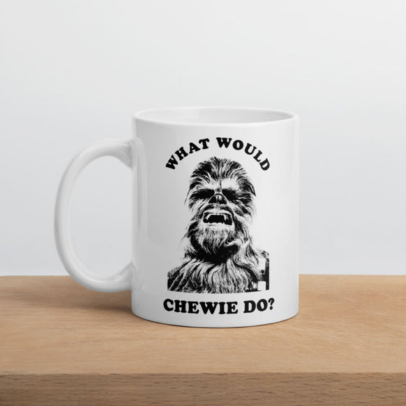 What Would Chewie Do? Ceramic Coffee Mug, Vintage Chewbacca Wookie