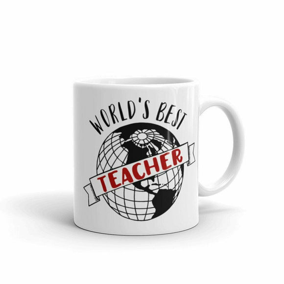 World's Best Teacher Coffee Tea Drink Mug Ceramic Funny Cute Cup Gift Holiday
