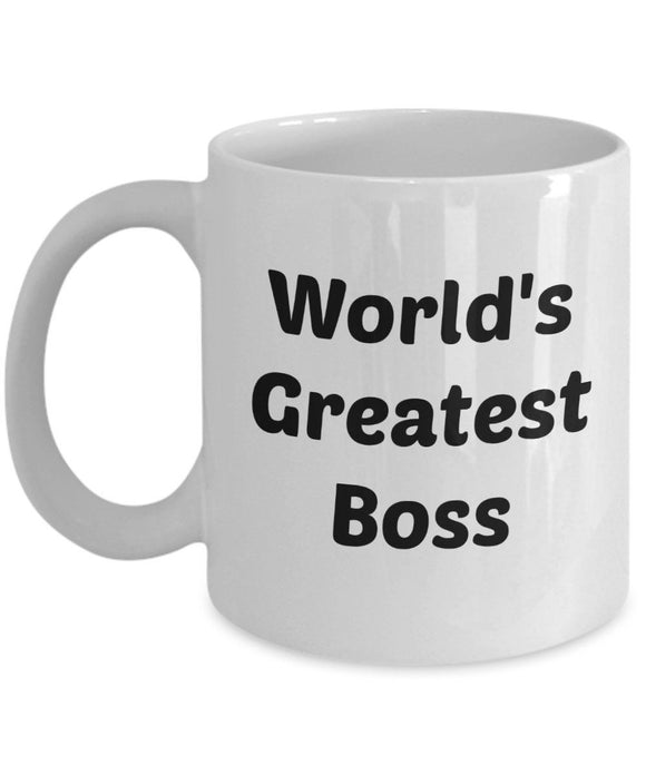 Worlds Greatest Boss Mug - Worlds Best Boss Mug - Funny Tea Hot Cocoa Coffee
