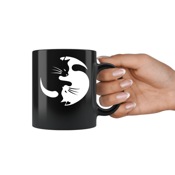 Yin And Yang Cat Pet Lover Mug