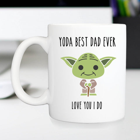 Yoda best dad mug, Father's day or christmas cup