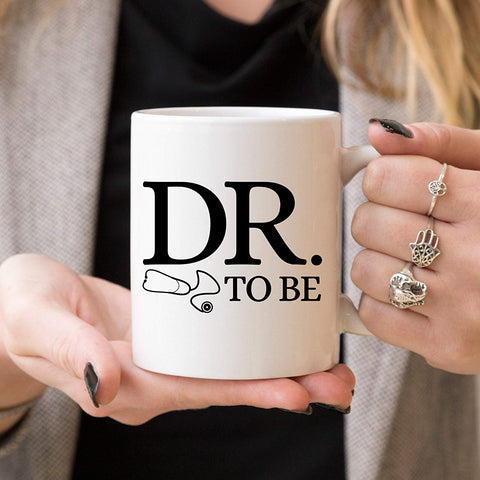Younique Designs Dr. To Be Coffee Mug,  Funny Medical Student Cup, Med School Mug, Medical School