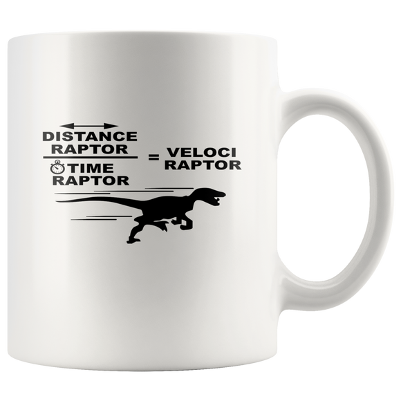 Distance raptor divided by time raptor mug