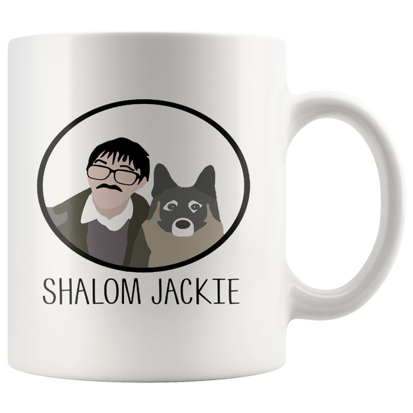 Friday Night Dinner Shalom Jackie mug