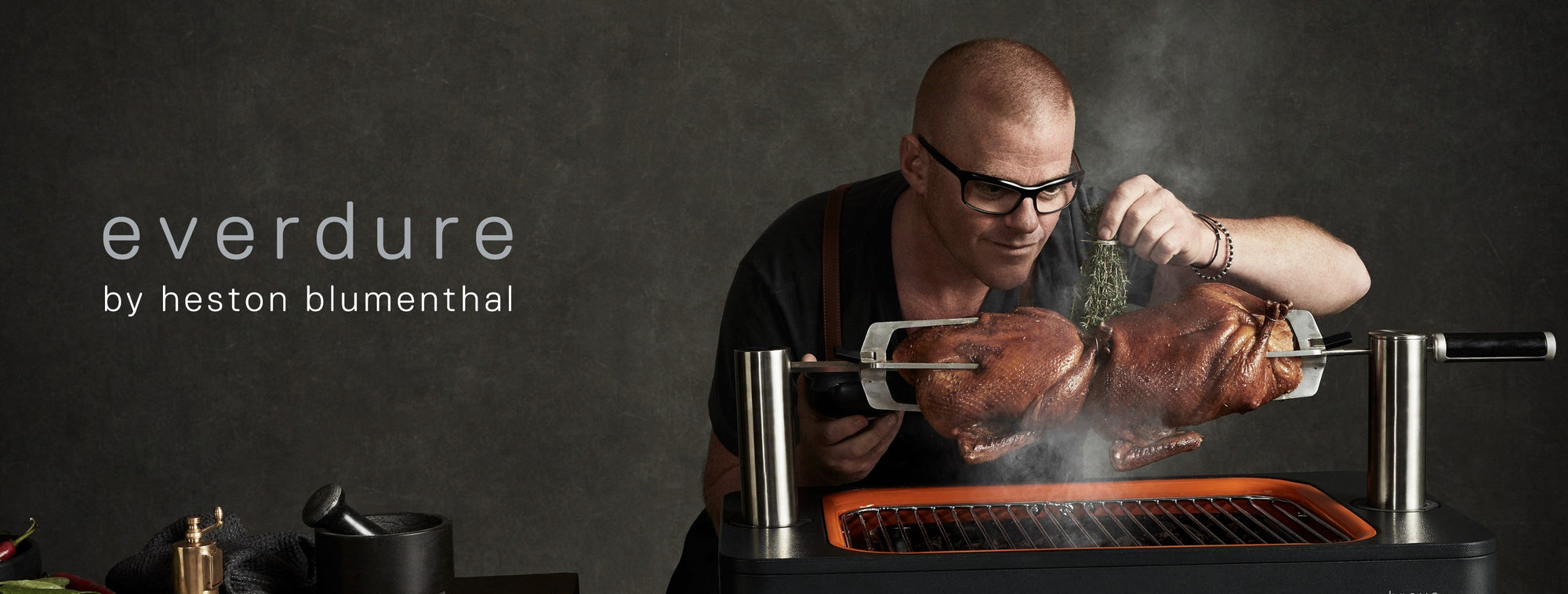 Heston Blumenthal's hi-tech Everdure BBQs take outdoor dining to the next level - Folders