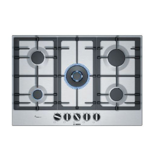 Bosch 75cm Gas Stainless Steel Cooktop PCR7A5B90A - Folders
