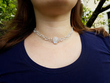 Load image into Gallery viewer, Moonstone necklace with glass beads
