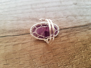 Amethyst tree of life ring