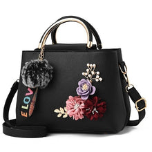 Load image into Gallery viewer, Flowers Tote Leather Clutch Bag