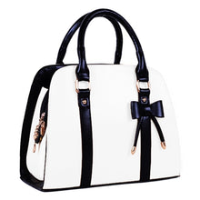 Load image into Gallery viewer, Vintage White Tote Handbag