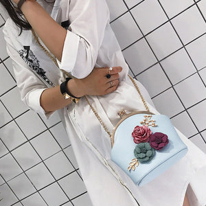 Stereo Flowers Shoulder Bag