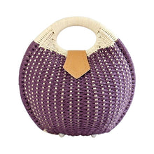Load image into Gallery viewer, Snail's Nest Straw Tote Handbag