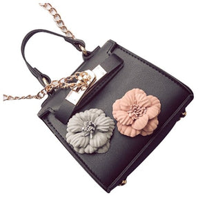 Leather Mini Flower Chain Bag