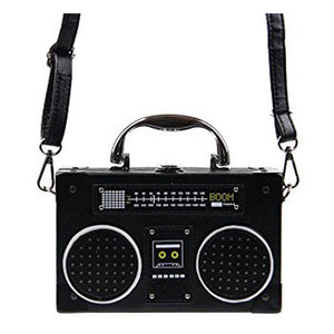 Radio Box Shoulder Leather Bag