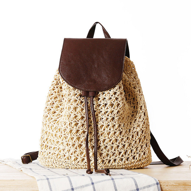 Summer Travel Holiday Beach Drawstring Bag