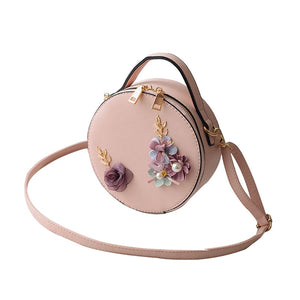 Round Flower Crossbody Cute Small Bag
