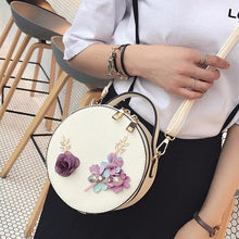 Load image into Gallery viewer, Round Flower Crossbody Cute Small Bag
