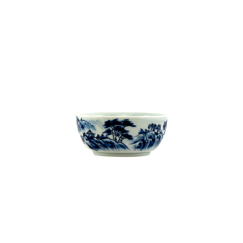 Jingdezhen Porcelain Blue In/Out Handprints Cup