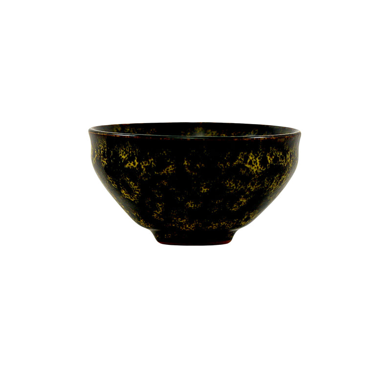 Jingdezhen Porcelain Bowl Shape Yellow Floral Cup