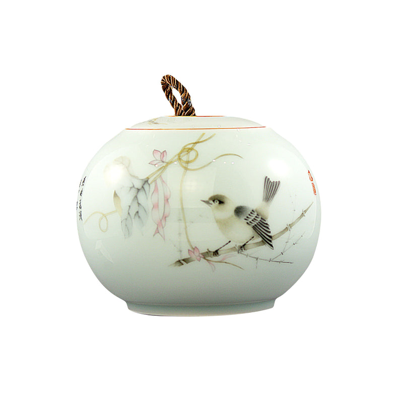 Lotus Round Porcelain Canister (Caddy)