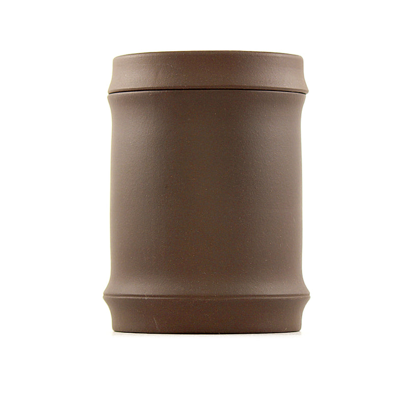 Terracotta Tea Canister (Caddy) - bamboo shape ANR5210