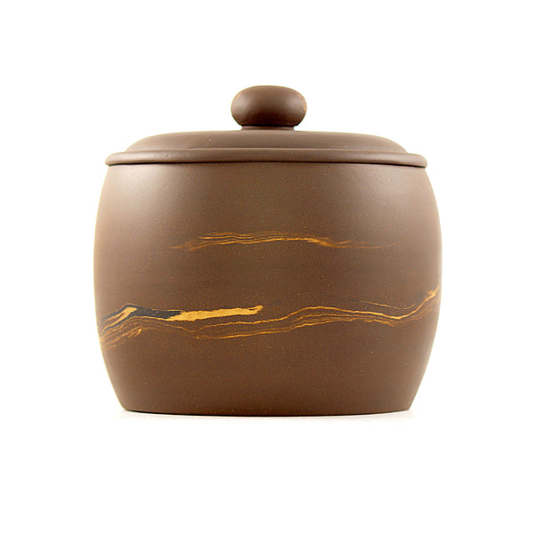 Terracotta Tea Canister (Caddy) - two tone ANR5273