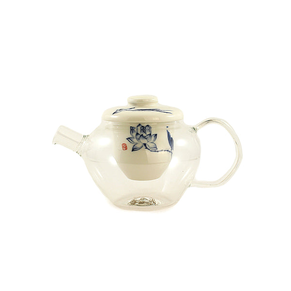 Oriental Beauty Glass & Porcelain 5 Piece Tea Set