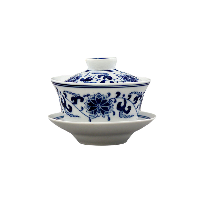 QingHua Gaiwan Tea Set 青花瓷茶具