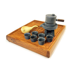 Tea Mill Tea Set Grey 9 pieces