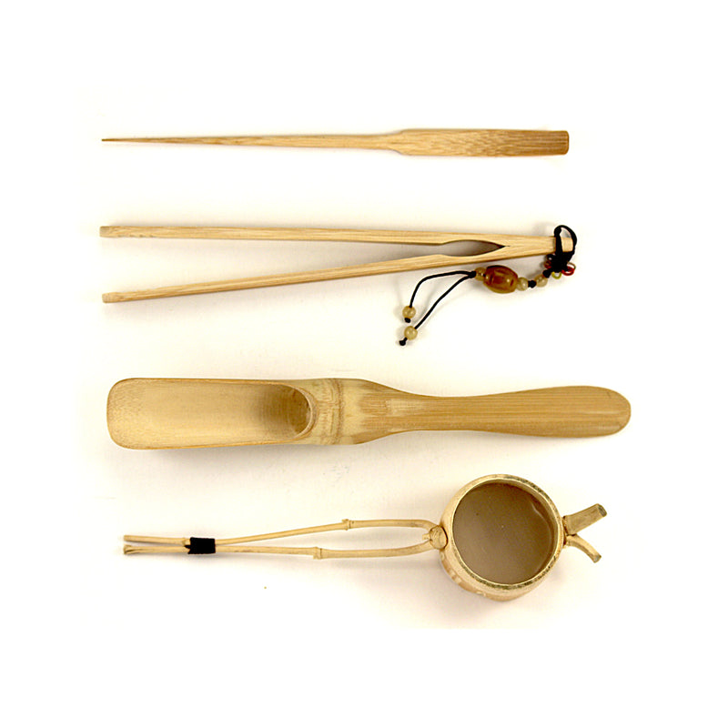 Bamboo Crafted Ceremonial Utensils Set