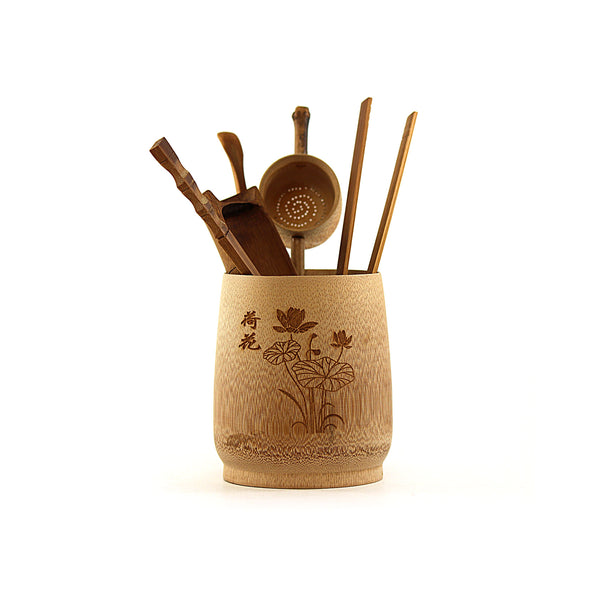 Aged Bamboo Ceremonial Utensils Set