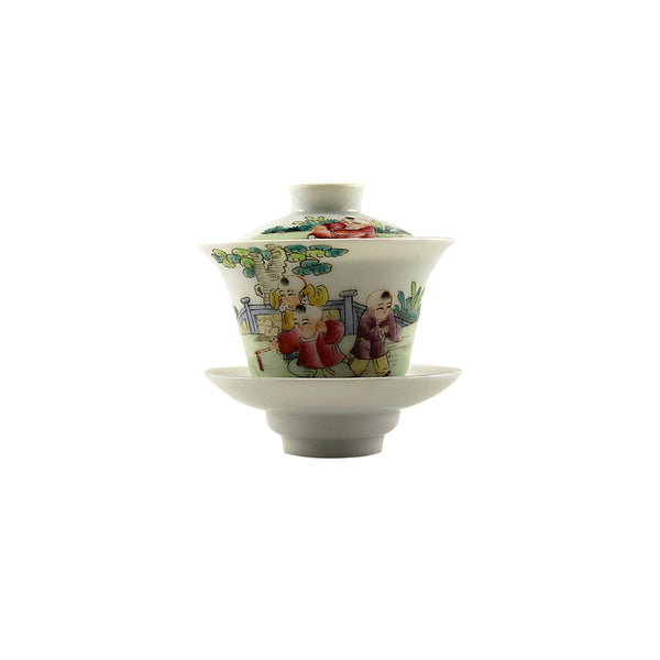 Jingdezhen Gaiwan 75ml Childhood 景德鎮 老蓋碗