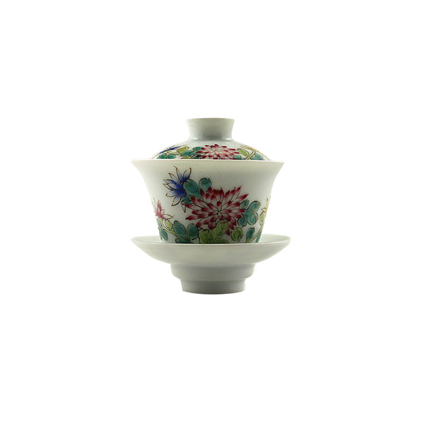 Jingdezhen Gaiwan 75ml Red Daisy 景德鎮 老蓋