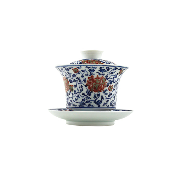 Jingdezhen Gaiwan 175ml Qinghua Red 景德鎮 蓋碗