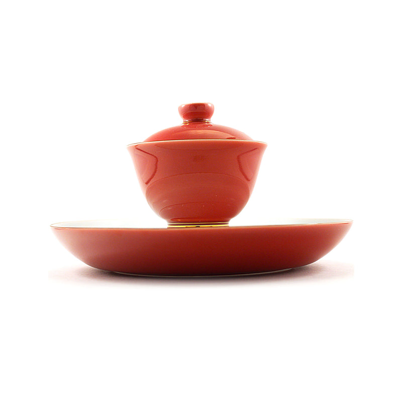 Porcelain Gaiwan 200ml  Blush 乾泡 蓋碗