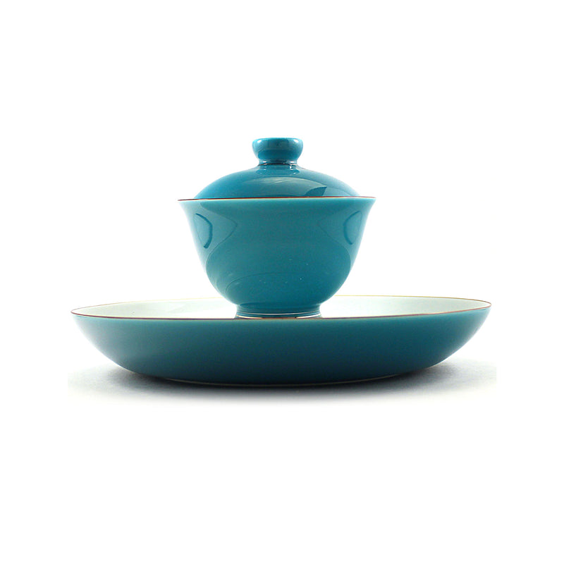 Porcelain Gaiwan 200ml Saucer Sky Blue 乾泡 蓋碗