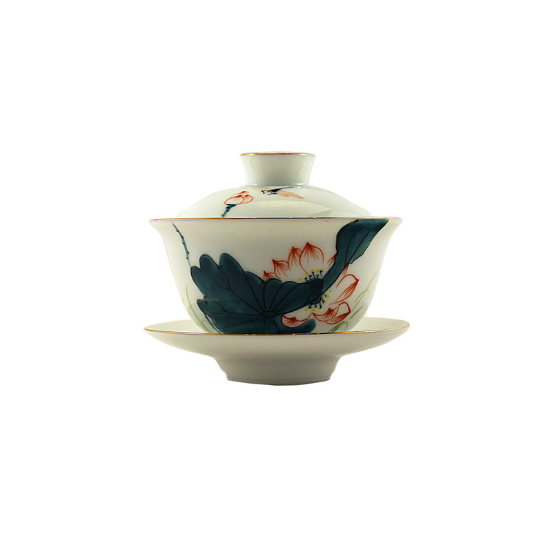 Porcelain Gaiwan 150ml Lotus Pond 蓋碗