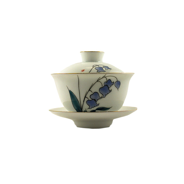 Porcelain Gaiwan 150ml Purple Bells 蓋碗