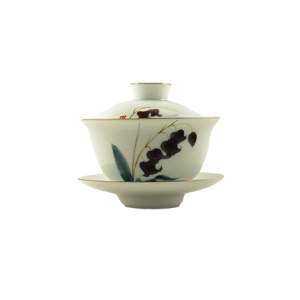 Porcelain Gaiwan 150ml Blue Bell 蓋碗