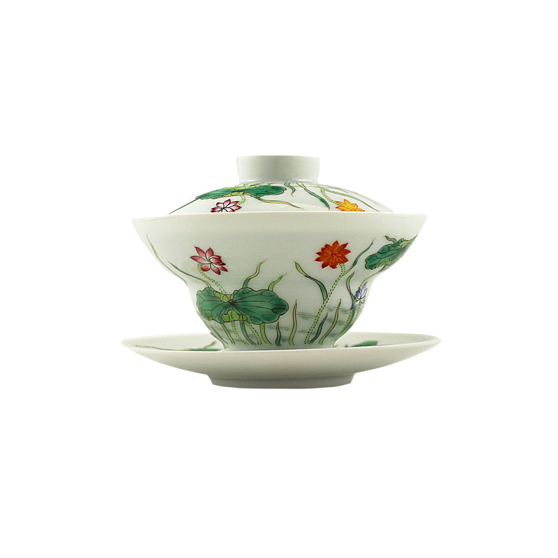 Jingdezhen Gaiwan 175ml Lotus Dance 景德鎮 蓋碗
